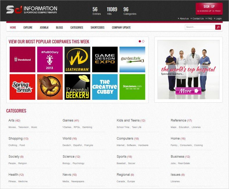 Business Directory Joomla Templates & Themes | Free & Premium ...