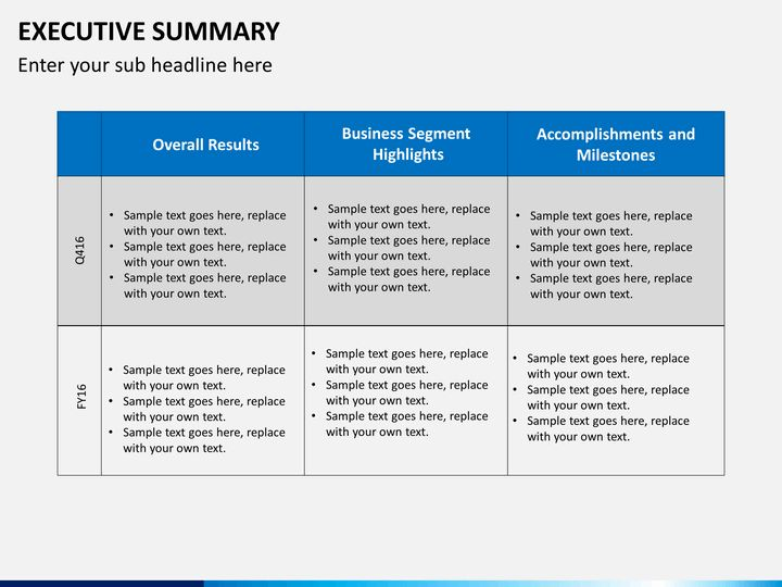 executive summary powerpoint template executive summary powerpoint ...