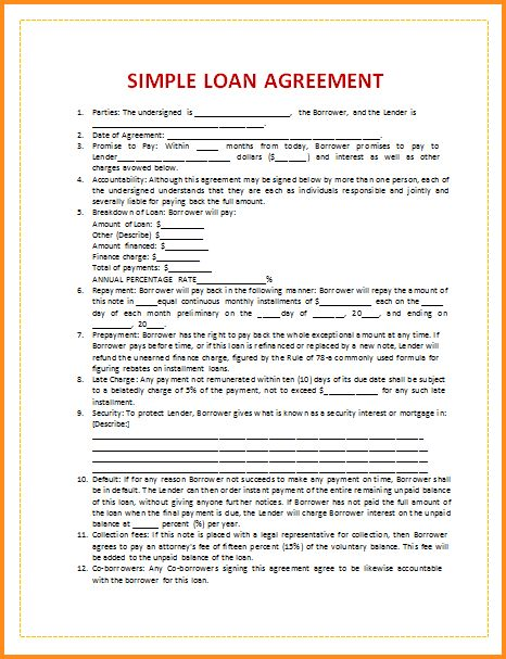 9+ loan contract template | mac resume template