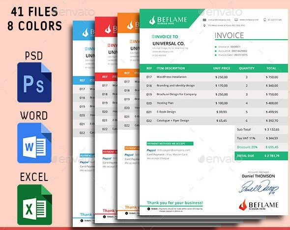 Download Free Invoice Design Template Psd | rabitah.net