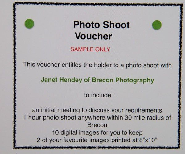 Gift Vouchers: Brecon Photography