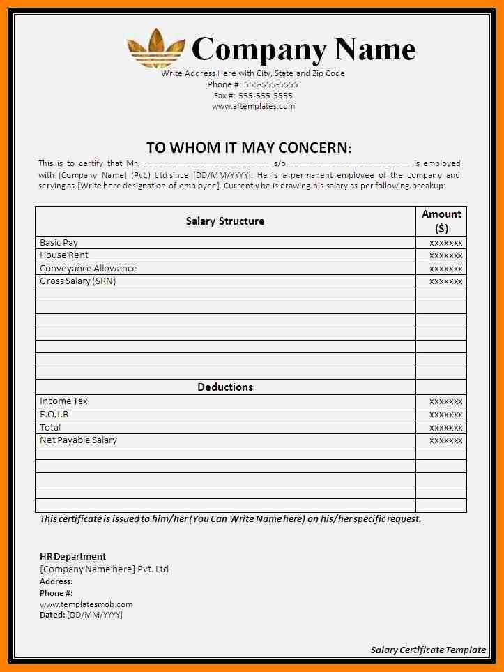 4+ salary certificate model pdf | target cashier