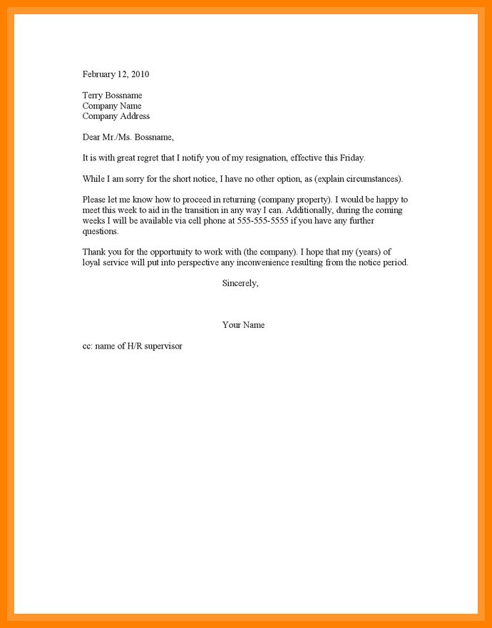 12+ resign letter short notice | forklift resume