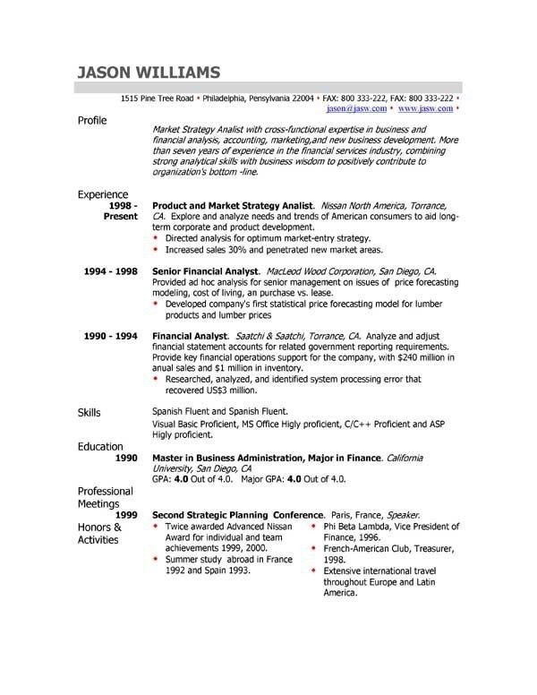 resume profile statement examples resume profile statement