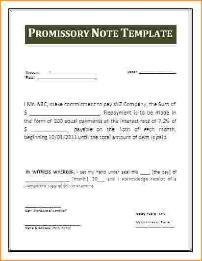 Promissory Note Template.Promissor Note Form.gif - Questionnaire ...