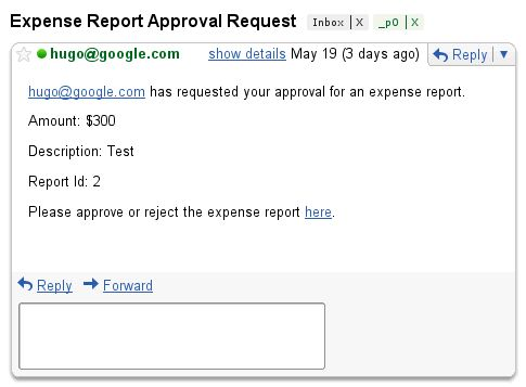 Tutorial: Expense Report Approval   Apps Script   Google Developers