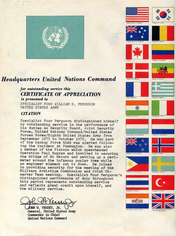 File:UNC Certificate of Appreciation.jpg - Wikimedia Commons