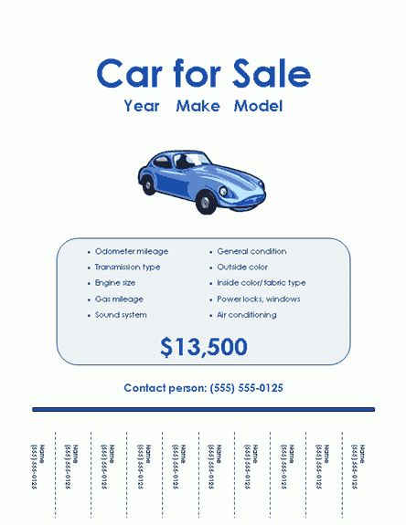Car For Sale Flyer Templates | Free Flyer Templates