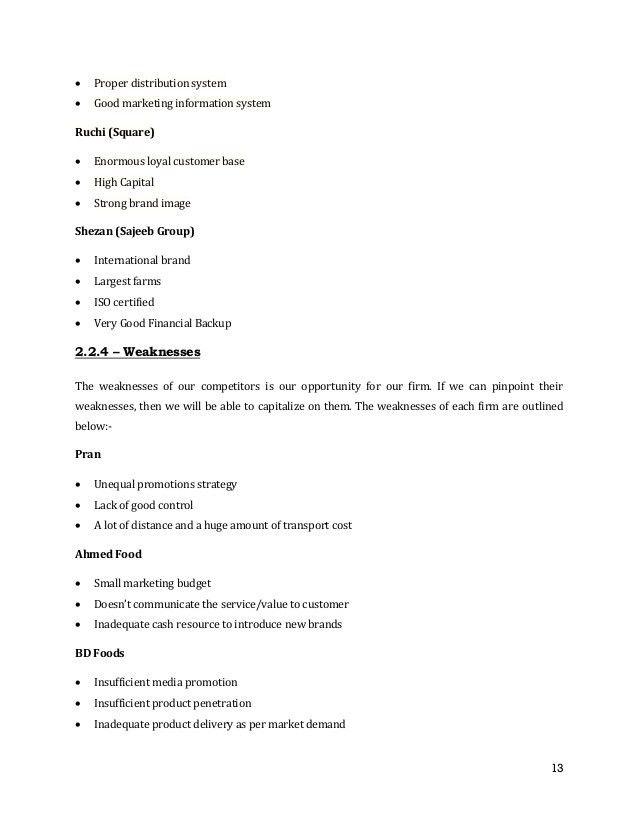 A Marketing Plan on Nutri-Jam