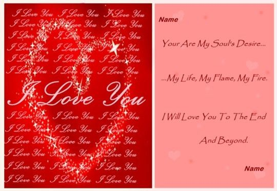 Love Cards Samples
