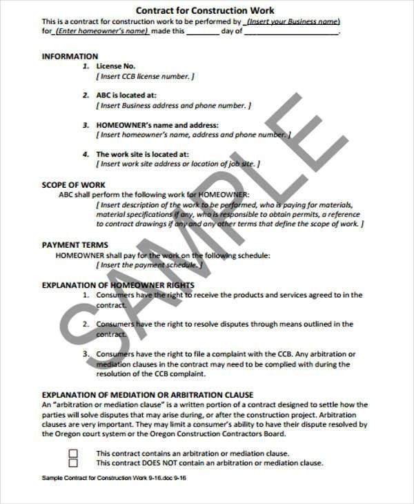 7+ Job Contract Templates - Free Sample, Example, Format Download