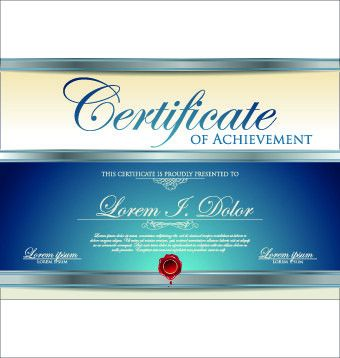 Modern certificate creative design vector set 09 - Vector Cover ...