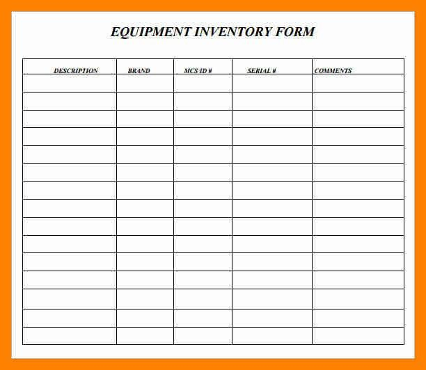 Blank Inventory Template 114 [Template.billybullock.us ]