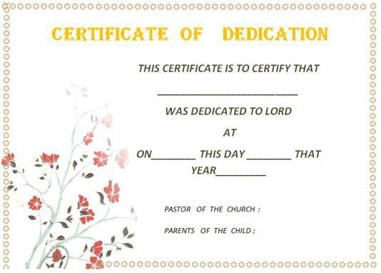 26 Free Fillable Baby Dedication Certificates in Word (Stunning ...