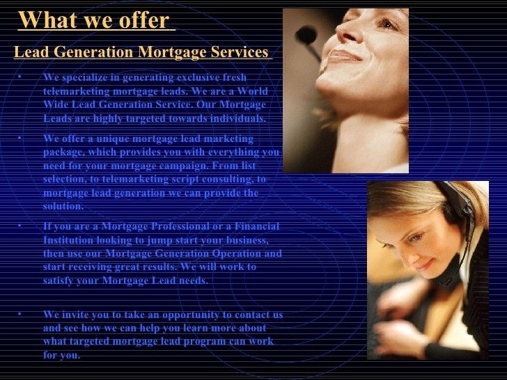 Exclusive Mortgage Leads Solution