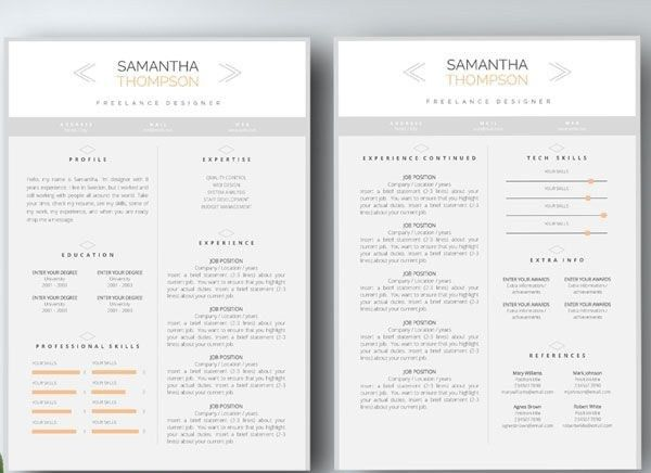 2 Page Resume Examples - Ecordura.com
