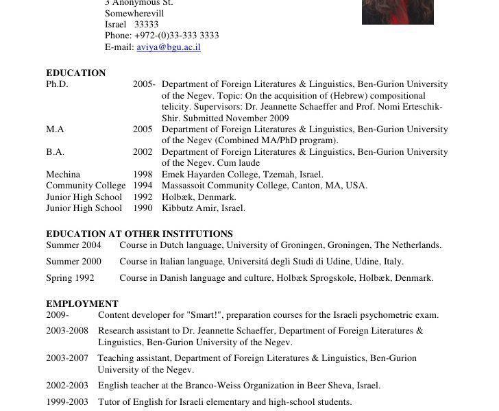 Download Academic Resume Examples | haadyaooverbayresort.com