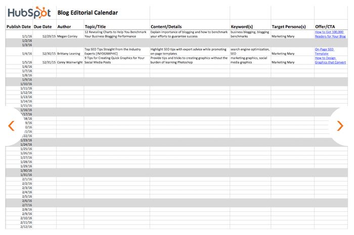 How to Create a 90-Day Content Calendar (with Free Templates ...