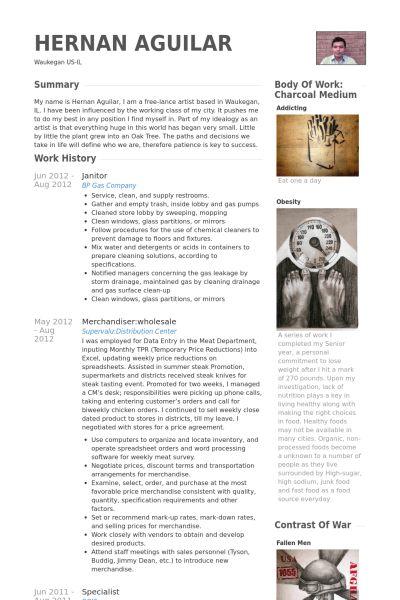 Janitor Resume samples - VisualCV resume samples database