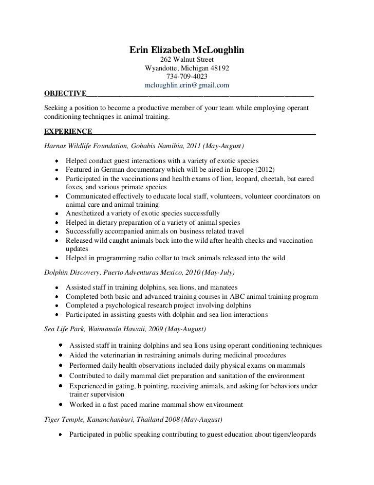 veterinarian resume sample sample veterinary nurse resume sample ...