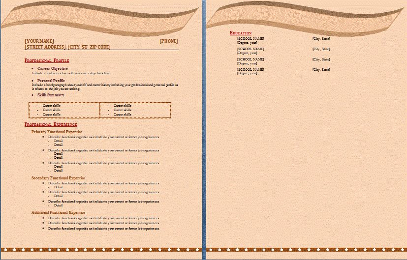 Microsoft Resume Templates 2010 | Resume Badak