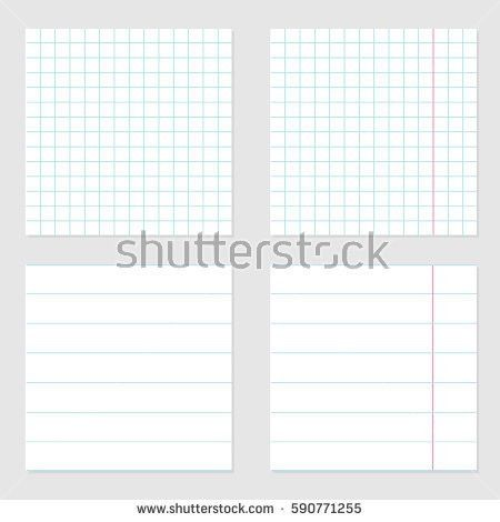 Notebook Paper Template. Notebook Paper With One Centimeter Gray ...