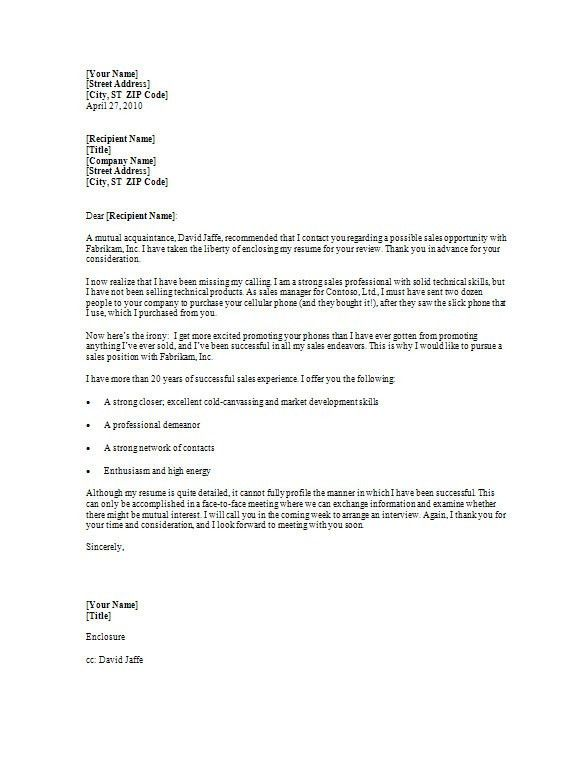 Enclosure Cover Letter - My Document Blog