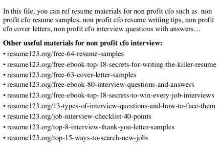 top 8 assistant cfo resume samples. cfo resume sample vice ...