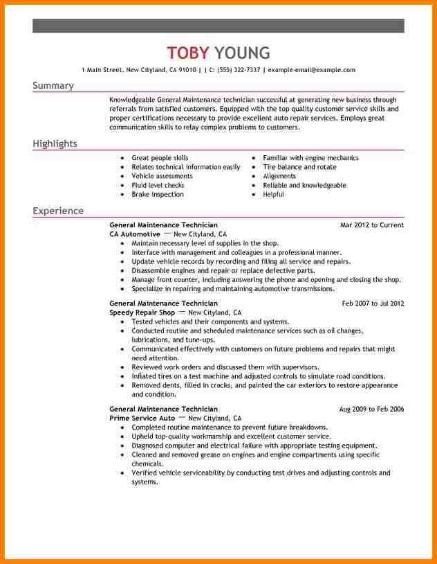 10 maintenance resume sample monthly bills template