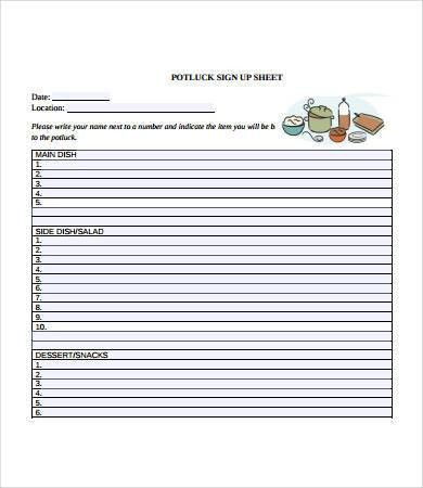 Sign Up Sheet Template. The Admin Bitch: Download Free Potluck ...