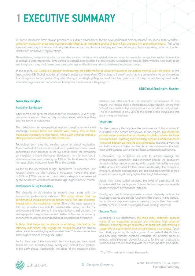 UBI Global - GBR15-16 - Executive Summary