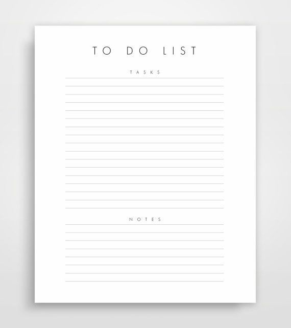 Daily To-Do List, Printable Perfect for the minimalist planner for ...