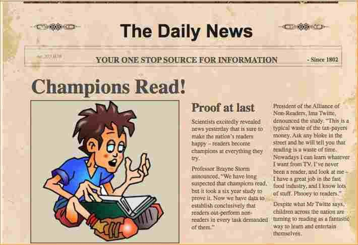 A newspaper article example for students - Business Proposal ...