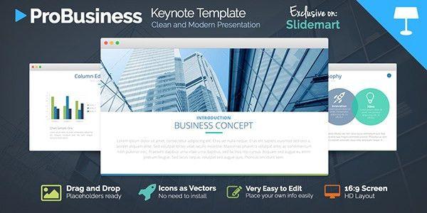 FREE ProBusiness Keynote Presentation Template on Behance