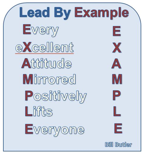 I like the Acronym on this for Leading by Example ...