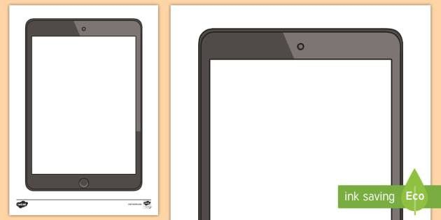Tablet Blank Writing Template - ipad, apple, iphone, selfies