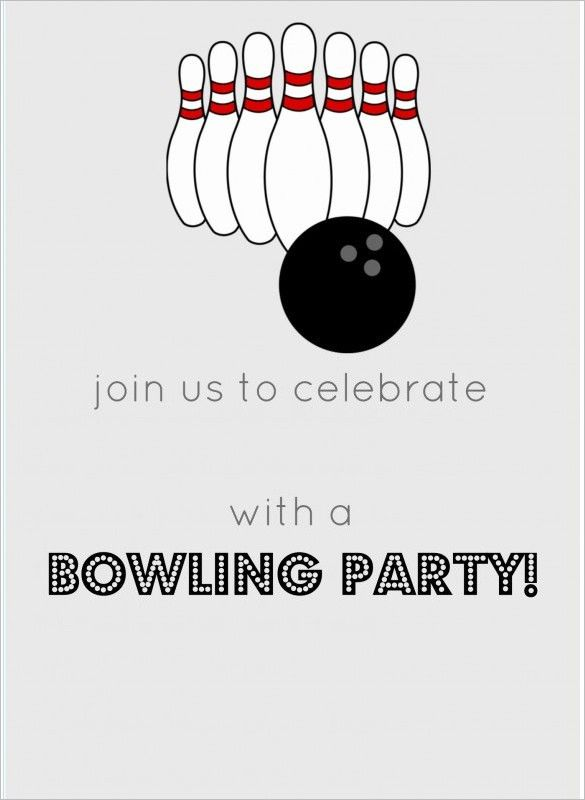 15+ Outstanding Bowling Invitation Templates & Designs! | Free ...