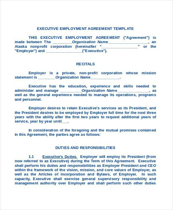 Sample Employment Contract Forms   11+ Free Documents In PDF, Doc