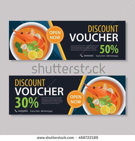 Discount Voucher Template Thai Food Flat Stock Vector 468722225 ...