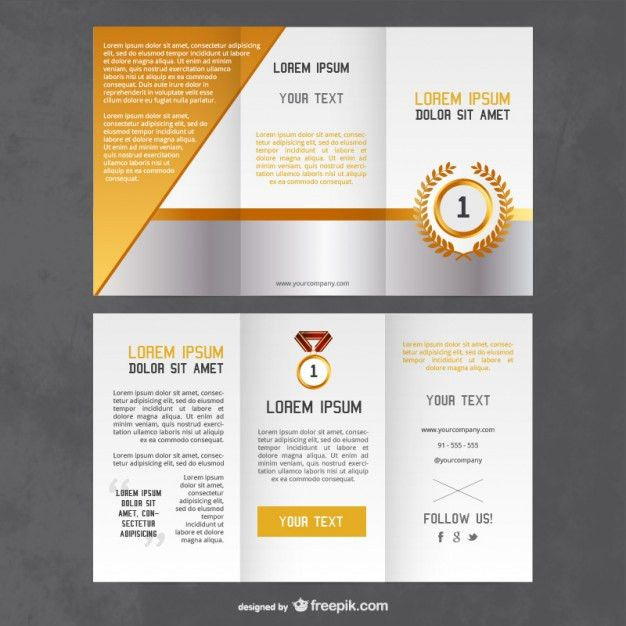 Awards flyer template Vector | Free Download