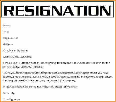7+ 3 month notice resignation letter - Basic Job Appication Letter