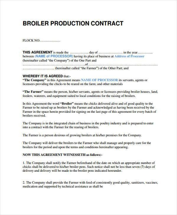 10+ Production Contract Templates - Sample, Example | Free ...
