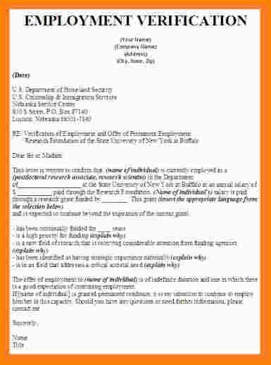 11 employment verification letter sample nypd resume. sample ...