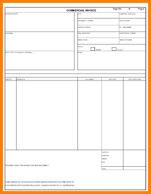 6+ sample blank commercial invoice | Short paid invoice