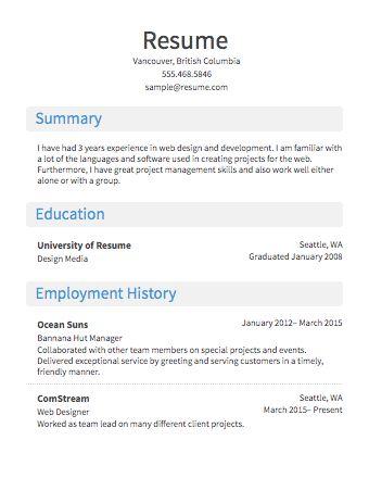 Free Resume Builder · Resume.com