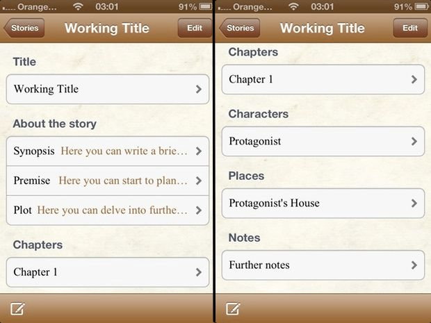 Writers App: Build Your Novel « iPhone.AppStorm