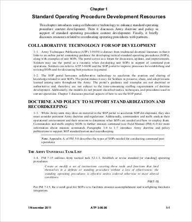 Standard Operating Procedure Template - 8+ Free Word, PDF ...