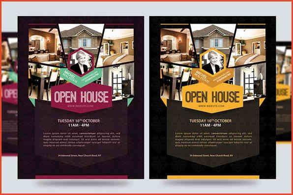 OPEN HOUSE FLYER TEMPLATE | Proposalsheet.com