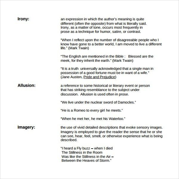 Sample Figure of Speech Example Template - 8+ Free Documents in ...