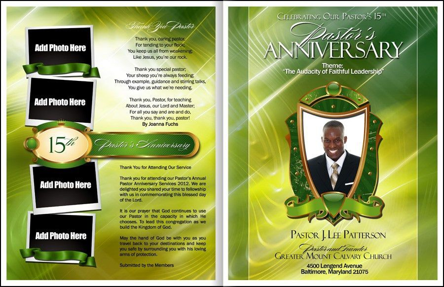 Church Anniversary Program Template | Best Example Of Business ...